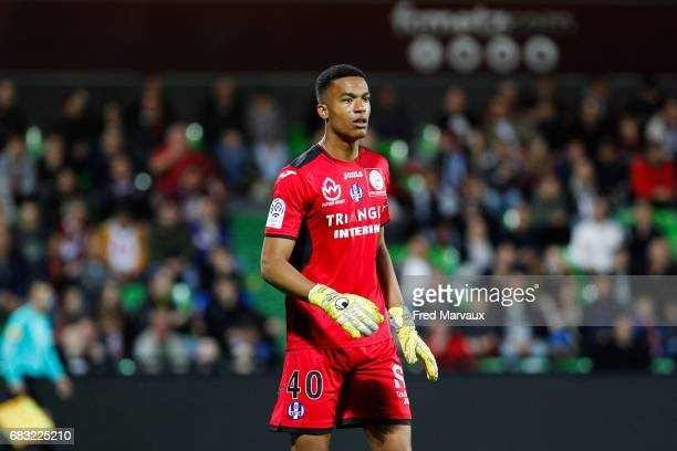 Alban Lafont of Toulouse during the Ligue 1 match between FC Metz and Toulouse FC at Stade SaintSymphorien on May 14 2017 in Metz France