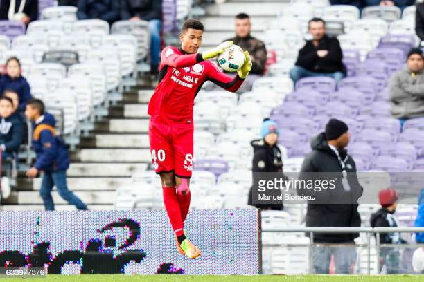 Alban Lafont of Toulouse during the Ligue 1 match between Toulouse Fc and Angers Sco at Stadium Municipal on February 5 2017 in Toulouse France