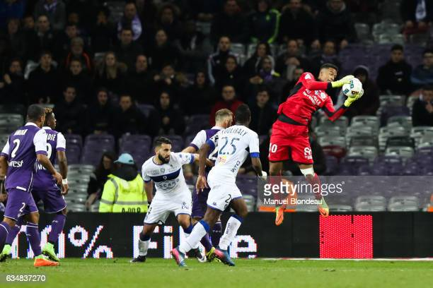 Alban Lafont of Toulouse during the Ligue 1 match between Toulouse Fc and Sc Bastia at Stadium Municipal on February 11 2017 in Toulouse France