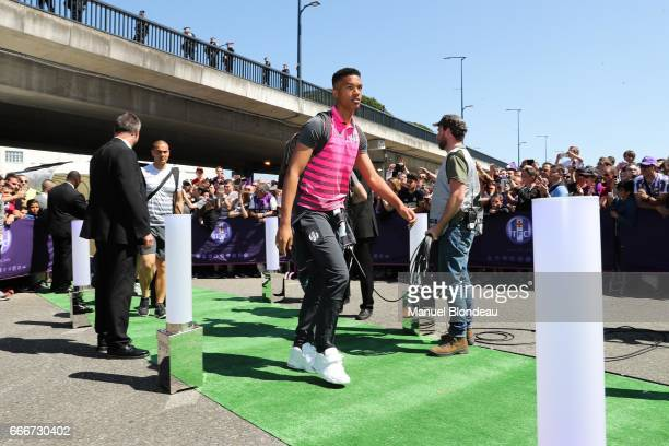 Alban Lafont of Toulouse during the Ligue 1 match between Toulouse FC and Olympique de Marseille at Stadium Municipal on April 9 2017 in Toulouse...