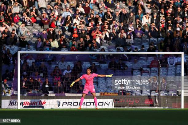 Alban Lafont of Toulouse during the Ligue 1 match between Toulouse FC and SM Caen at Stadium Municipal on May 6 2017 in Toulouse France