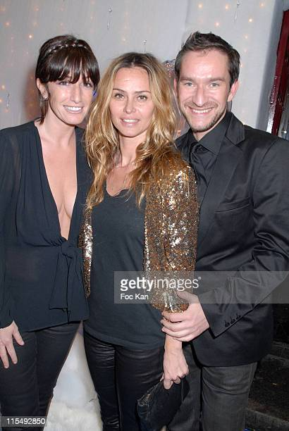 Albane Cleret Agathe de La Fontaine and Xavier Brunet attend the Wyborowa 2008 Russian New Year Party at The Castel Club on January 102008 in Paris...