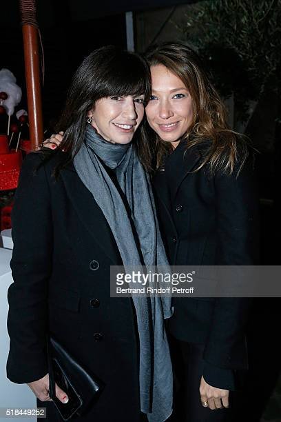 Albane Cleret and Actress laura Smet attend the 'Guy Bourdin Portraits' Exhibition Opening and Cocktail at Studio des Acacias on March 31 2016 in...