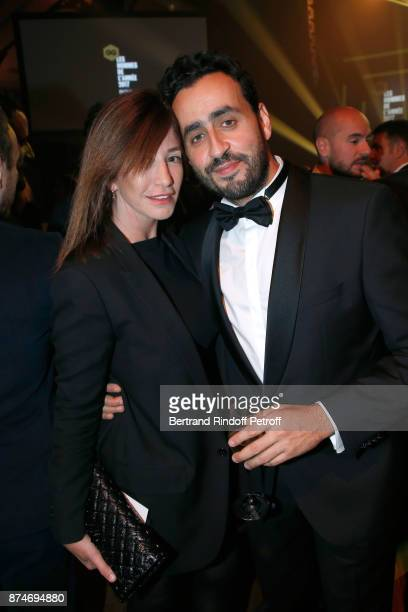 Albane Cleret and Awarded as Funniest Man of the year Jonathan Cohen attend the GQ Men of the Year Awards 2017 at Le Trianon on November 15 2017 in...