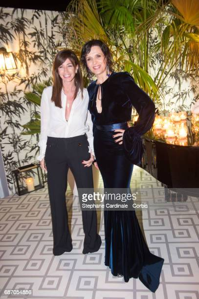 Albane Cleret and Juliette Binoche attends The Harmonist Party during the 70th annual Cannes Film Festival at on May 22 2017 in Cannes France