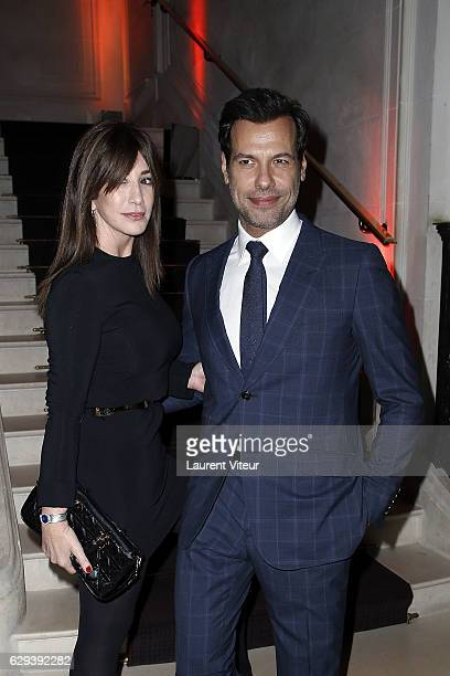 Albane Cleret and Laurent Lafitte attend 'Link Aides' Charity Dinner at Pavillon Cambon Capucines on December 12 2016 in Paris France
