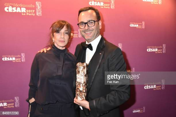 Albane Cleret and the best Movie producer attend the Cesar's After Party at Le Queen Club on February 24 2017 in Paris France