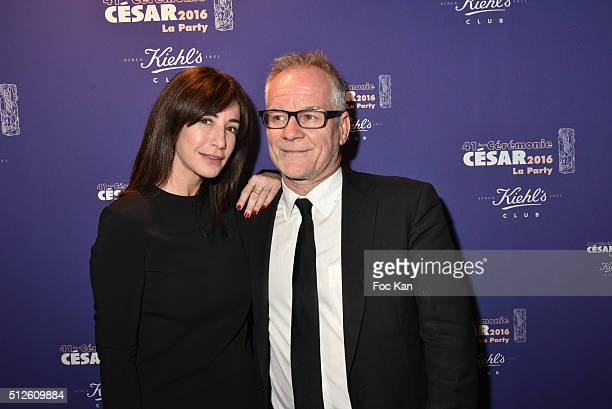 Albane Cleret and Thierry Fremeaux attend the photocall at the Queen Club after The Cesar Film Awards 2016 on February 26 2016 in Paris France
