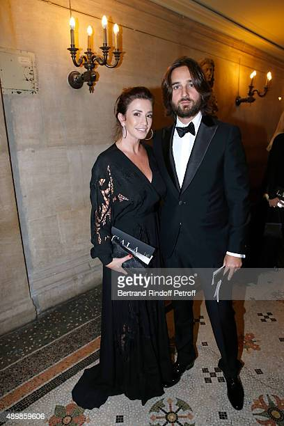 Albane Leclerc and Producer Dimitri Rassam attend the Ballet National de Paris Opening Season Gala at Opera Garnier on September 24 2015 in Paris...