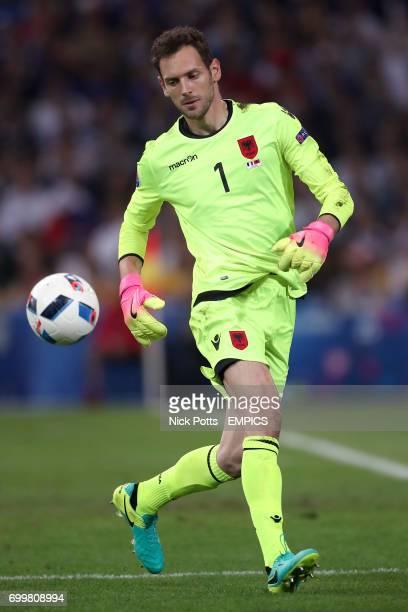 Albania goalkeeper Etrit Berisha