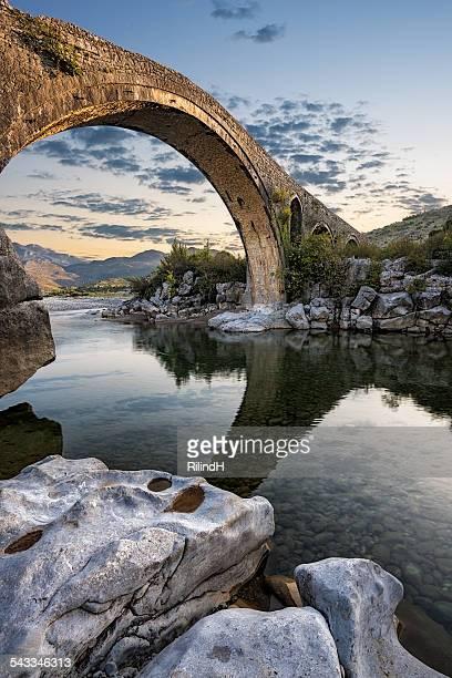 Albania, Shkoder, View of Mesi Bridge