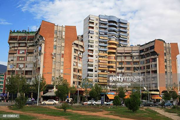 Tirana stock photos and pictures getty images for Apartments with shops below