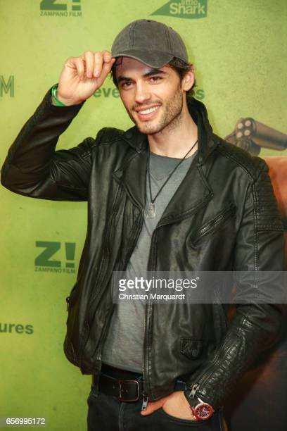Albanian Actor Nik Xhelilaj attends the premiere of the film 'Lommbock' at CineStar on March 23 2017 in Berlin Germany