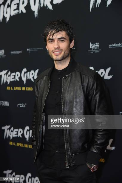 Albanian actor Nik Xhelilaj attends the premiere of the film 'Tiger Girl' at Zoo Palast on March 20 2017 in Berlin Germany