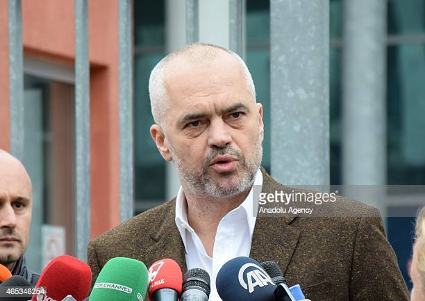 Albanian Prime Minister Edi Rama speaks to press regarding investigations launched mainly for the statements of the MP Tom Doshi after he bears...