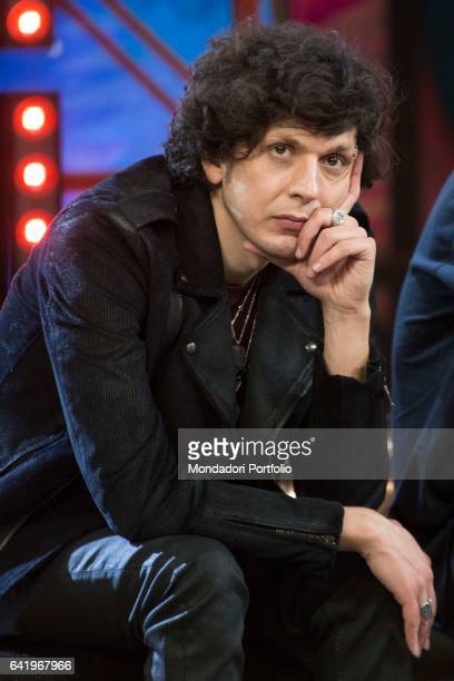 Albanian singer Ermal Meta attends at the first night of 'Dopo Festival' Sanremo February 7 2017