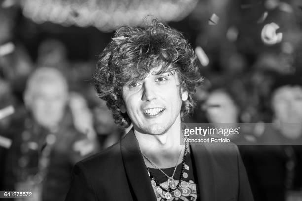 Albanian singer Ermal Meta attends the Red Carpet of 67° Sanremo Music Festival Sanremo February 6 2017
