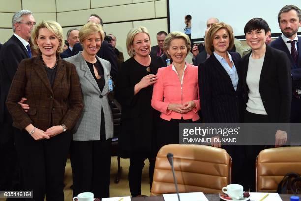 Albania's Defence Minister Mimi Kodheli Italy's Defence Minister Roberta Pinotti Netherlands' Defence Minister Jeanine HennisPlasschaert Germany's...