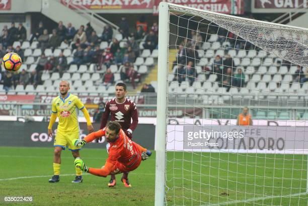 Albano Benjamin Bizzarri in action during the Serie A football match between Torino Fc and Pescara Calcio Torino wins 53 over Pescara
