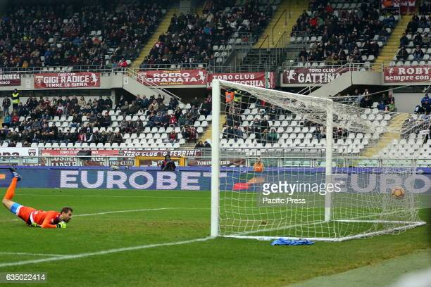 Albano Benjamin Bizzarri is disappointed after a goal of Andrea Belotti during the Serie A football match between Torino FC and Pescara Calcio Torino...