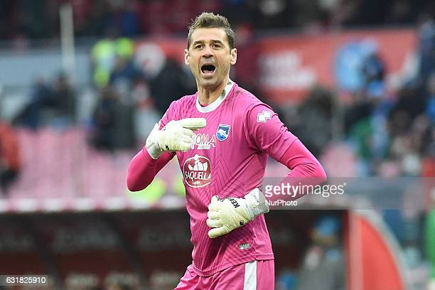 Albano Bizzarri of Pescara Calcio during the Serie A TIM match between SSC Napoli and Pescara Calcio at Stadio San Paolo Naples Italy on 15 January...