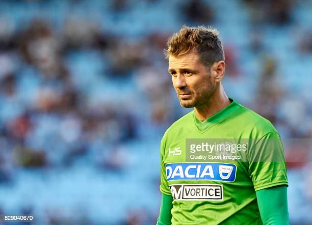 Albano Bizzarri of Udinese Calcio looks on during the Pre Season Friendly match between Celta de Vigo and Udinese Calcio at Balaidos Stadium on...