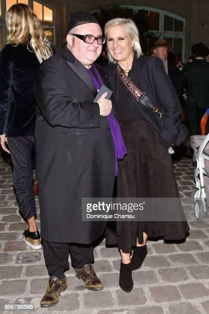Alber Elbaz and Maria Grazia Chiuri attend the Fashion Tech Lab Launch Event Hosted By Miroslova Duma And Stella McCartney as part of Paris Fashion...