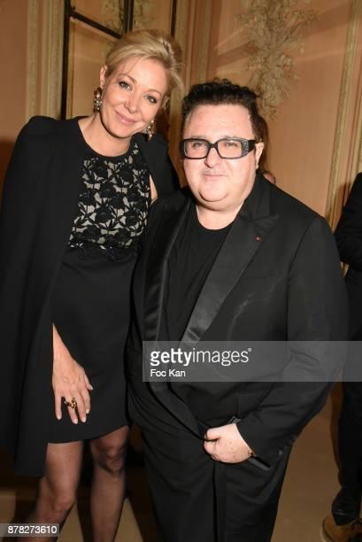 Alber Elbaz and Nadja Swarovski attend the 'Vogue Fashion Festival' Opening Dinner on November 23 2017 in Paris France