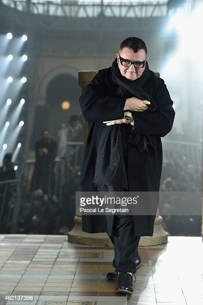 Alber Elbaz attends the Lanvin Menswear Fall/Winter 20152016 show as part of Paris Fashion Week on January 25 2015 in Paris France