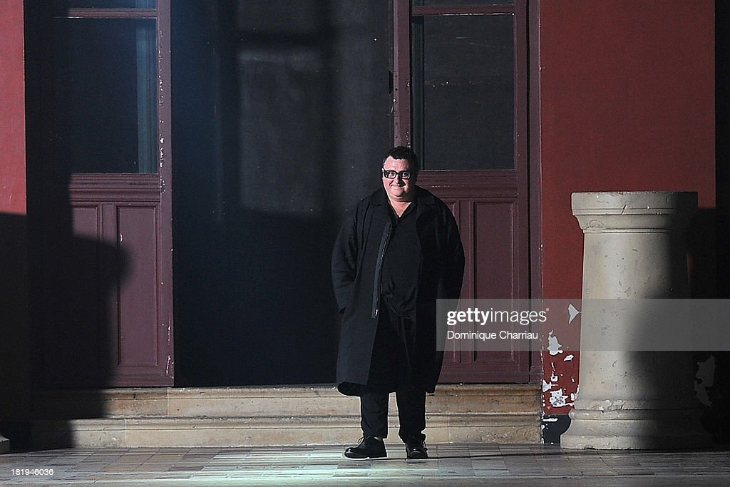 <a gi-track='captionPersonalityLinkClicked' href=/galleries/search?phrase=Alber+Elbaz&family=editorial&specificpeople=783481 ng-click='$event.stopPropagation()'>Alber Elbaz</a> walks the runway during Lanvin show as part of the Paris Fashion Week Womenswear Spring/Summer 2014>> on September 26, 2013 in Paris, France.