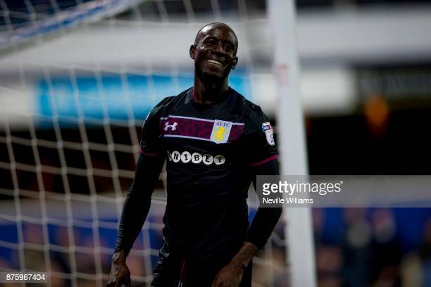 Albert Adomah of Aston Villa during the Sky Bet Championship match between Queens Park Rangers and Aston Villa at Loftus Road on November 18 2017 in...
