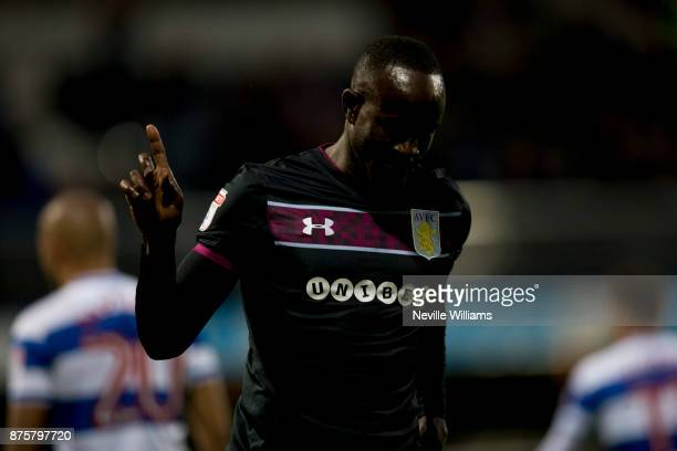 Albert Adomah of Aston Villa scores for Aston Villa during the Sky Bet Championship match between Queens Park Rangers and Aston Villa at Loftus Road...