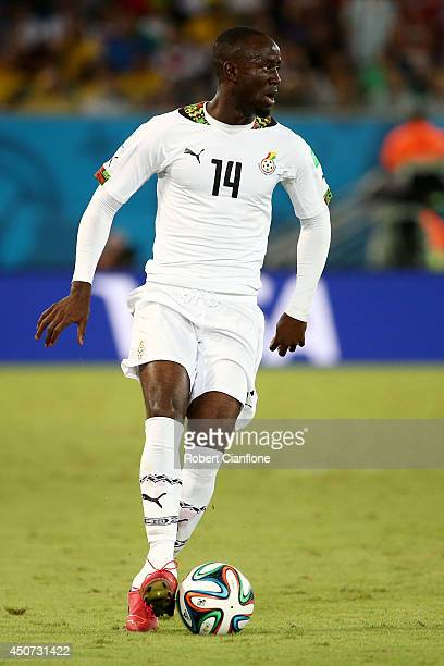Albert Adomah of Ghana controls the ball during the 2014 FIFA World Cup Brazil Group G match between Ghana and the United States at Estadio das Dunas...