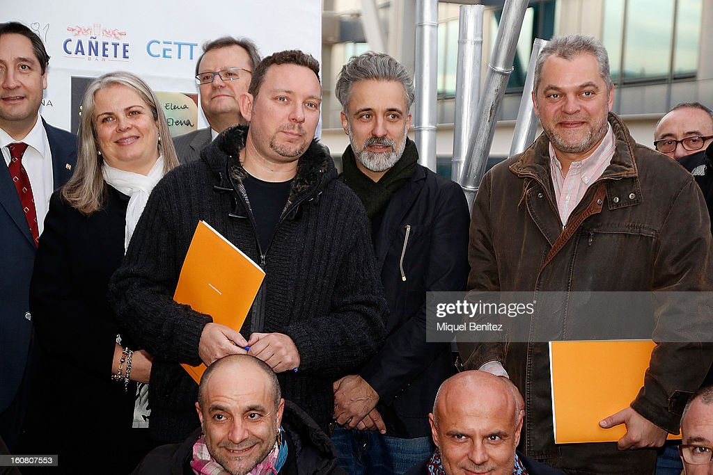 Albert Adria, Sergi Arola and Xavier Pellicer attend the Second Charity Tapas on February 5, 2013 in Barcelona, Spain.