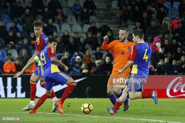 Albert Alavedra of Jong Andorra Aleix Viladot of Jong Andorra Bart Ramselaar of Jong Oranje Claudi Bove of Jong Andorra during the EURO U21 2017...