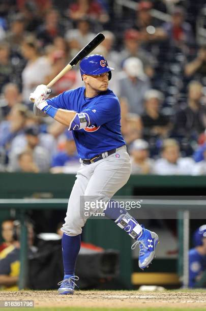 Albert Almora Jr #5 of the Chicago Cubs bats against the Washington Nationals at Nationals Park on June 27 2017 in Washington DC
