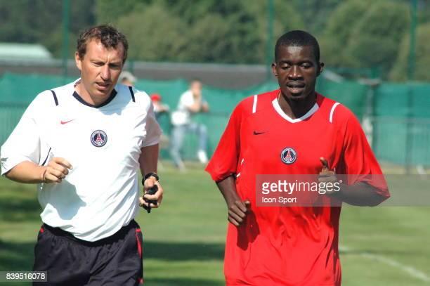 Albert BANING PSG Saison 2006/2007 Entrainement du PSG au Camp des Loges