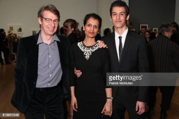 Albert Bonnier Nalini Bonnier and Raul Bonnier attend Evening Reception For HENRI CARTIERBRESSON THE MODERN CENTURY at MoMA on April 6 2010 in New...
