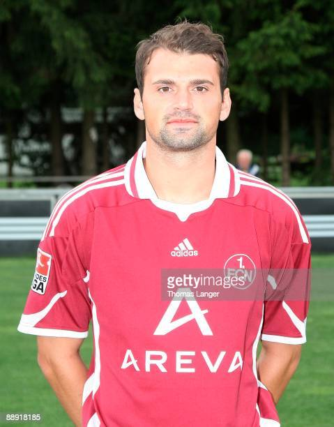 Albert Bunjaku poses during the 1 FC Nuernberg team presentation on July 8 2009 in Nuremberg Germany