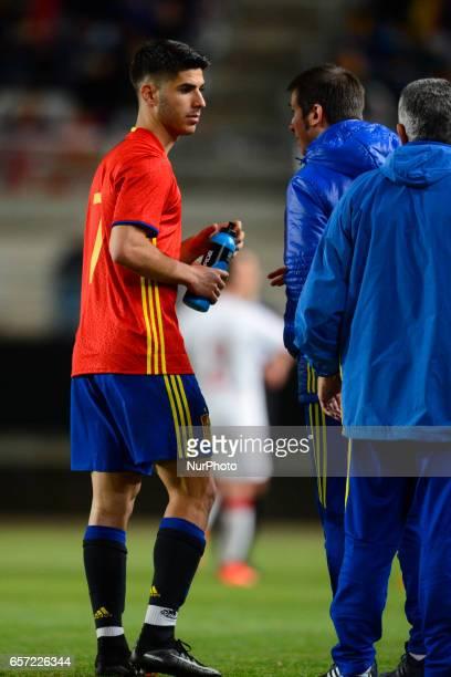 Albert Celades Marco Asensio during the friendly match of national teams U21 of Spain vs Denmark in stadium Nueva Condomina Murcia SPAIN March 23rd...