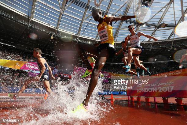 Albert Chemutai of Uganda competes in the Men's 3000 metres Steeplechase during day three of the 16th IAAF World Athletics Championships London 2017...