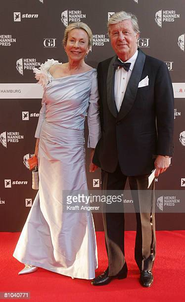Albert Darboven and his wife Eddaattends the HenriNannenAward on May 9 2008 in Hamburg Germany