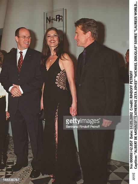 Albert De Monaco 'Catherine Zeta Jones' 'Michael Douglas' 'Laureus World Sports Awards' party in Monaco