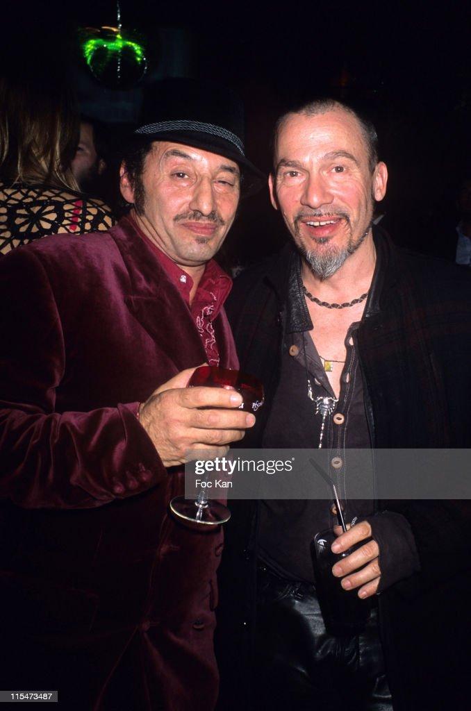 DJ Albert de Paname and Florent Pagny during Rose Bonbon Party at the Mandala Ray Club November 16 2006 at Mandala Ray Club in Paris France