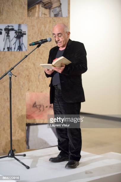 Albert Dichy reads 'Tombeau pour Cinq Cent Mille Soldats' for 50th anniversary of the book at Azzedine Alaia Gallery on October 19 2017 in Paris...