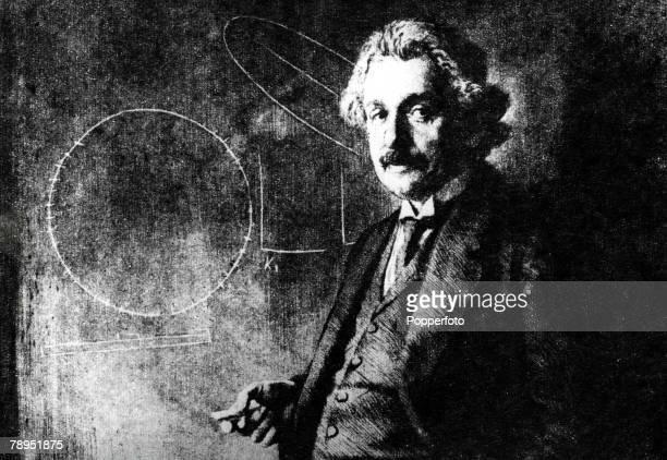 Albert Einstein German born US physicist who formulated the theories of relatvity An etching by Ferdinand Schmutzer