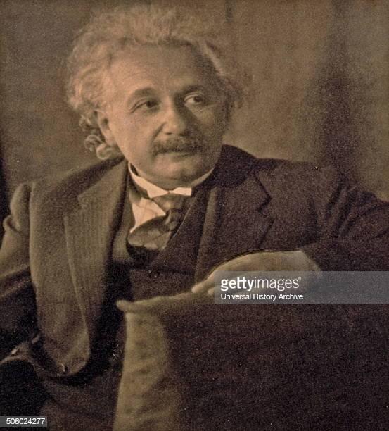 Albert Einstein halflength portrait seated facing right Photo by