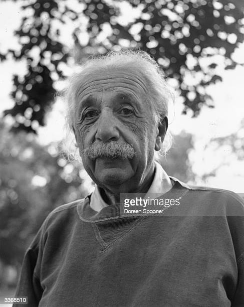 Albert Einstein mathematical atomic physicist and Nobel prizewinner at home in Princeton