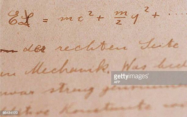 Albert Einstein's earliest surviving manuscript on the Theory of Relativity featuring the principle of massenergy equivalence with an algerbraic...