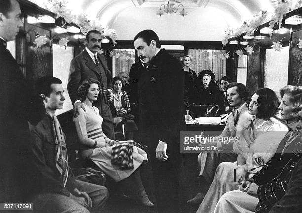 Albert Finney at the film 'Murder on the Orient Express' with Anthony Perkins Vanessa Redgrave Sean Connery Michael York Jacqueline Bisset Lauren...